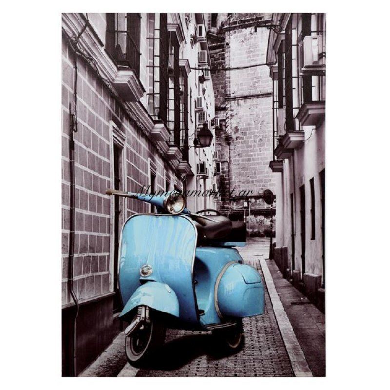 Πινακασ Καμβασ Hm7067 Blue Motocycle 50X70X2.5