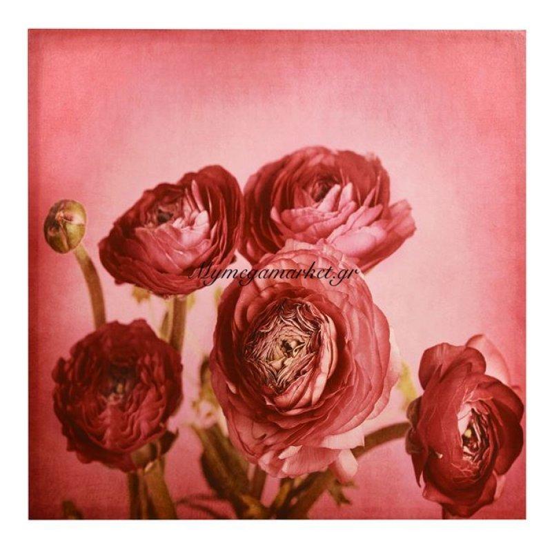 Πίνακας Καμβάς Hm7081 Flowers 60X60X2.5