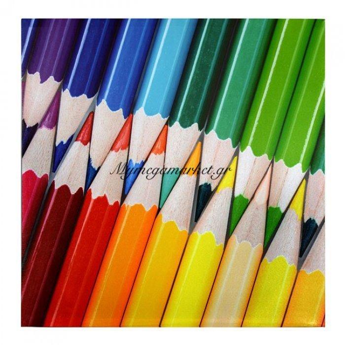 Πίνακας Καμβάς Hm7082 Pencils 60X60X2.5 | Mymegamarket.gr