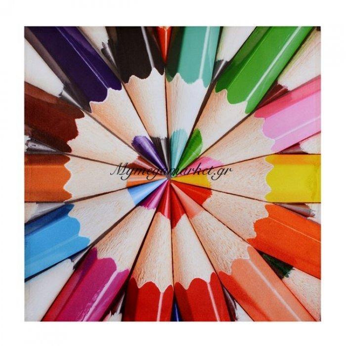 Πίνακας Καμβάς Hm7083 Pencils 60X60X2.5 | Mymegamarket.gr