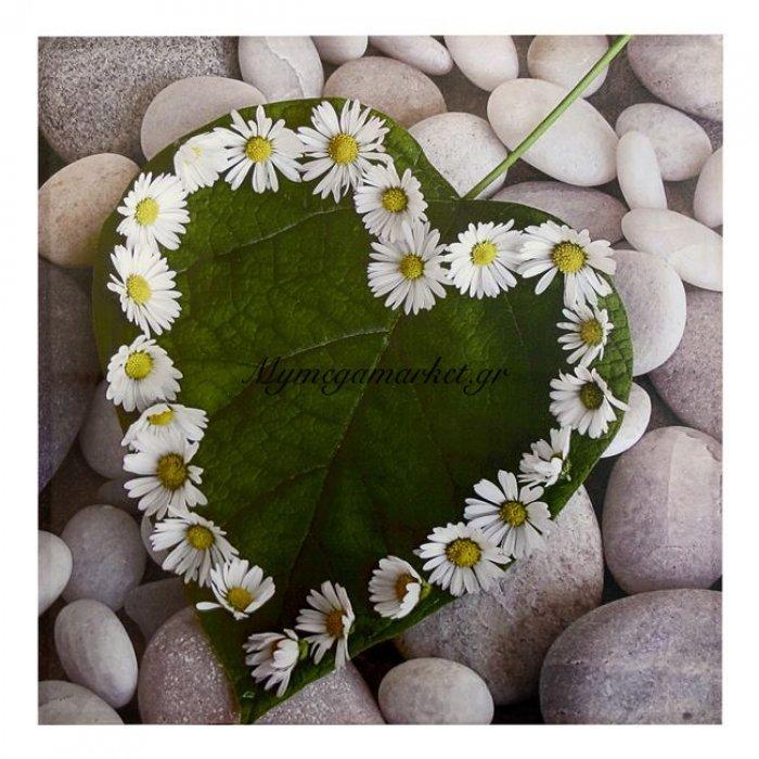 Πίνακας Καμβάς Hm7096 Leaf Heart 80X80X2.5 | Mymegamarket.gr