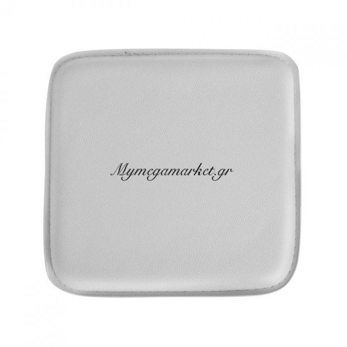 Κάθισμα Για Σκαμπό Hm0097.01 Melita Από Pu Λευκό Με Μαγνήτη | Mymegamarket.gr