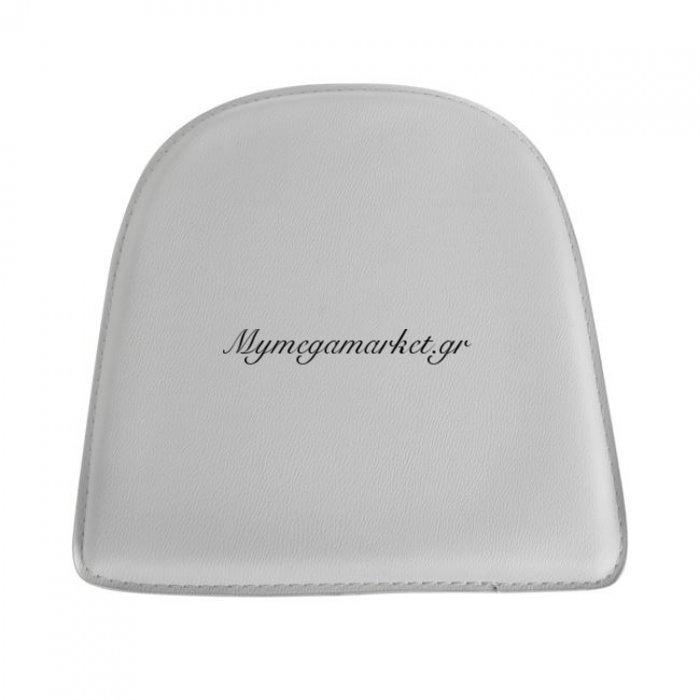 Κάθισμα Για Καρέκλα Hm0099.01 Melita Από Pu Λευκό Με Μαγνήτη | Mymegamarket.gr