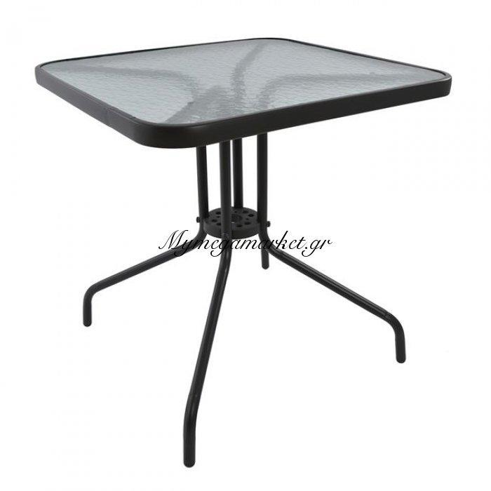 Τραπέζι Figo Μεταλλικό Γκρι 70Χ70Χ72 Hm5036.01 | Mymegamarket.gr