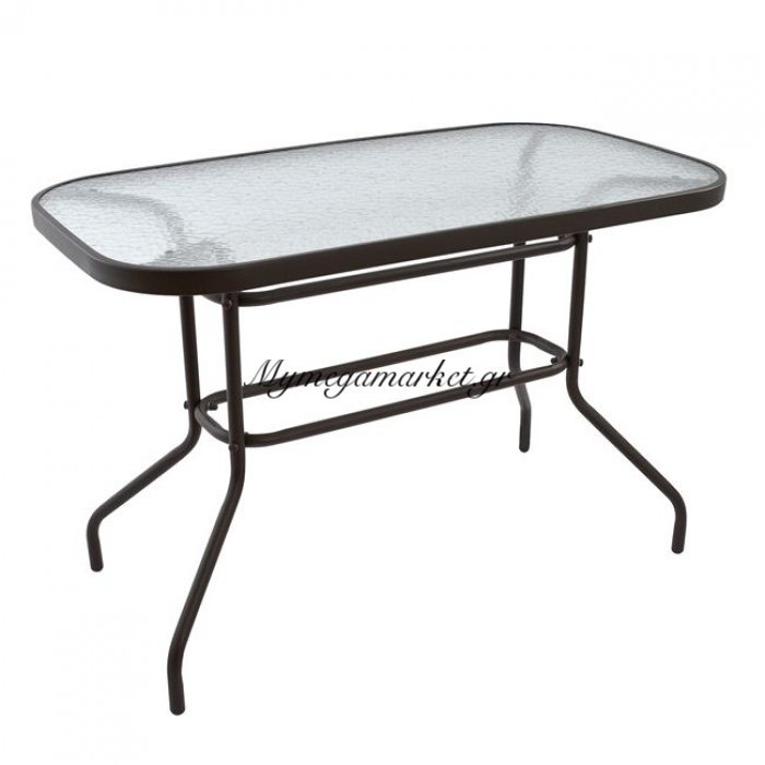 Τραπέζι Adam Μεταλλικό Καφέ 110Χ60Χ72 Hm5020.02 | Mymegamarket.gr