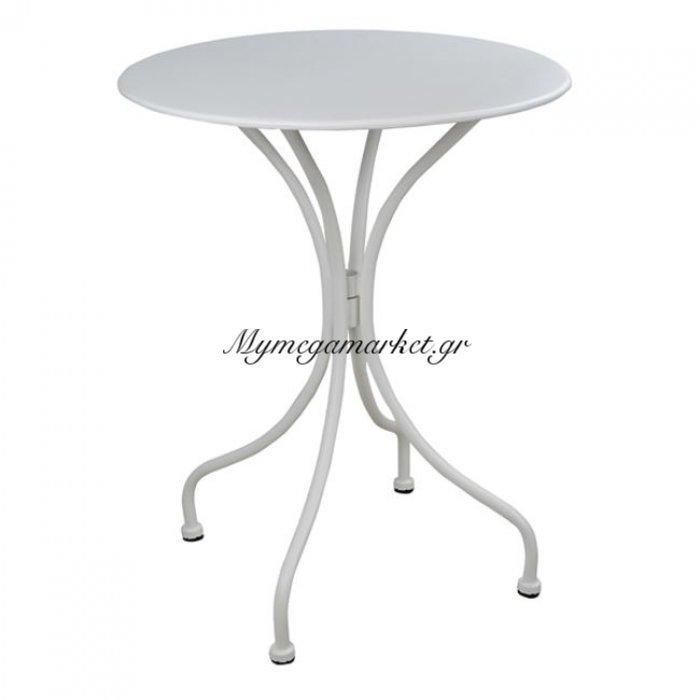 Τραπέζι Μεταλλικό Φ58 Alpine Λευκό Hm5104.02 | Mymegamarket.gr