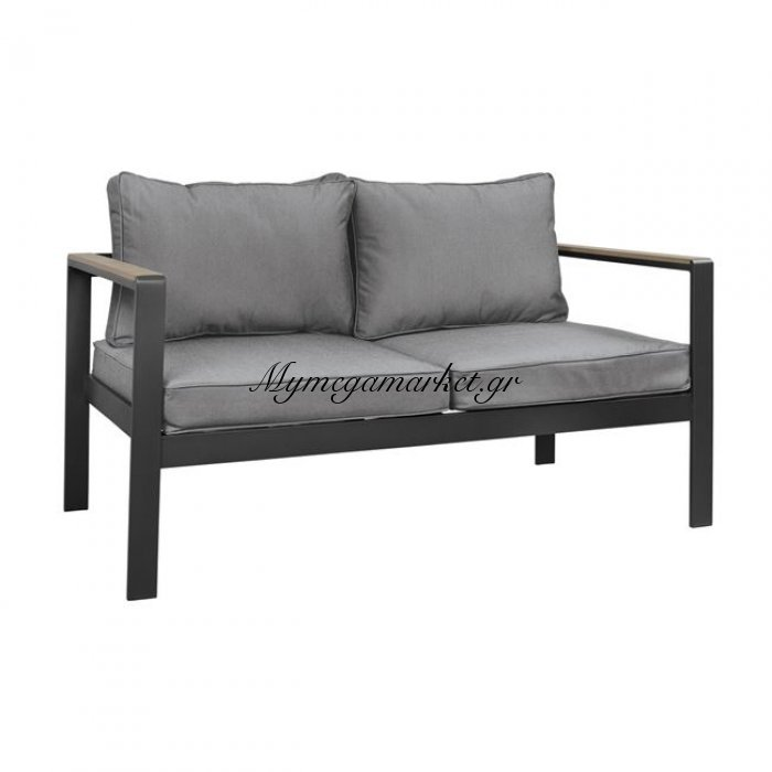 Καναπές Διθέσιος Αλουμινίου Γκρί Με Polywood Hm5523.02 114X70X79Υεκ. | Mymegamarket.gr