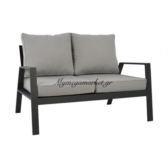 Καναπές Διθέσιος Αλουμινίου Hm5561.02 Γκρι Με Μαξιλάρια | Mymegamarket.gr