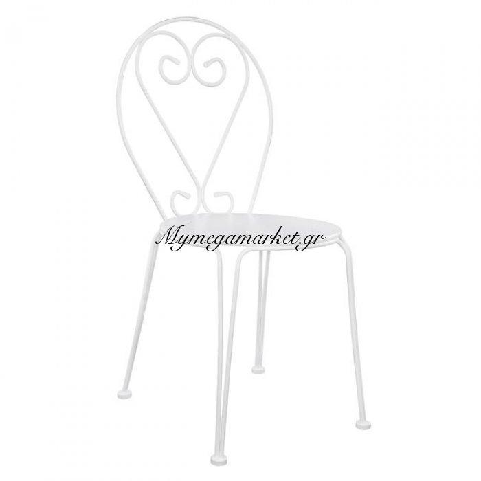 Καρέκλα Μεταλλική Amore Λευκή Hm5007.02 | Mymegamarket.gr