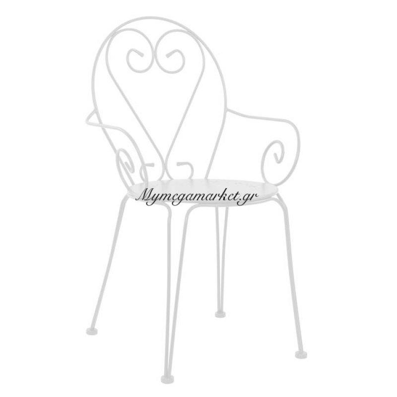 Καρέκλα Πολυθρόνα Μεταλλική Amore Λευκή Hm5008.02