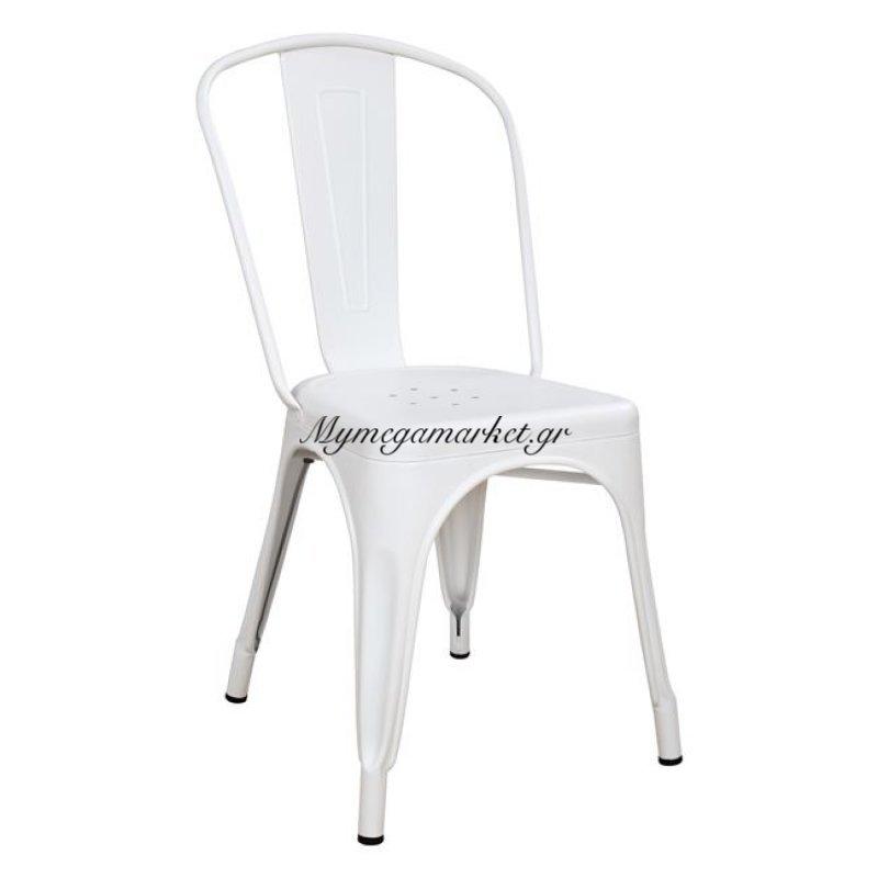 Καρέκλα Μεταλλική Hm0018.21 Melita Σε Milk White