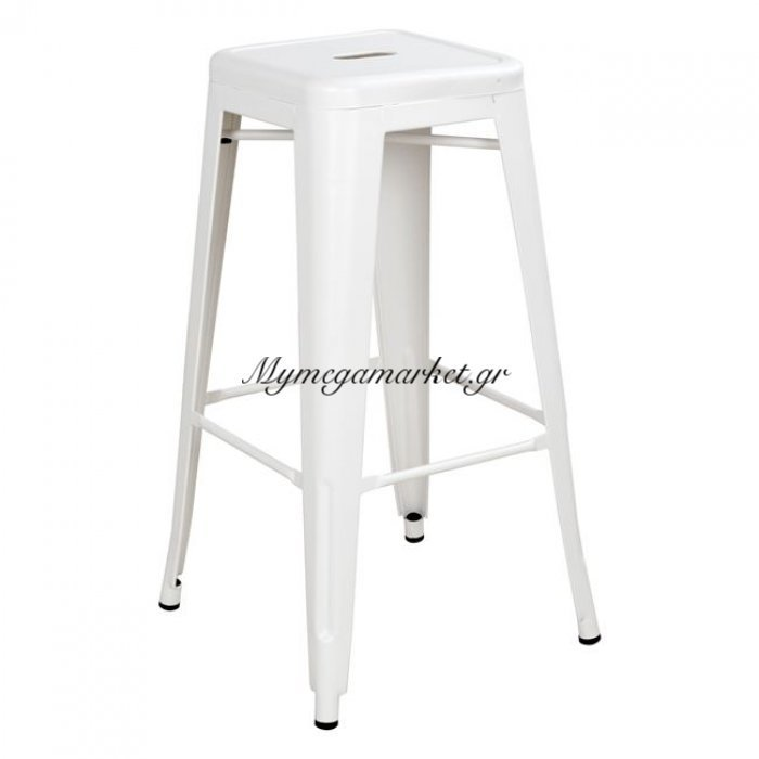 Σκαμπω Bar Μεταλλικό Hm0020.21 Melita Σε Milk White | Mymegamarket.gr