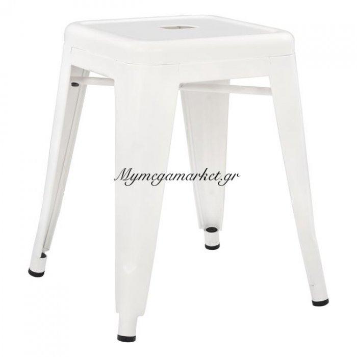 Σκαμπω Μεταλλικό Hm0096.21 Melita Σε Χρώμα Milk White | Mymegamarket.gr