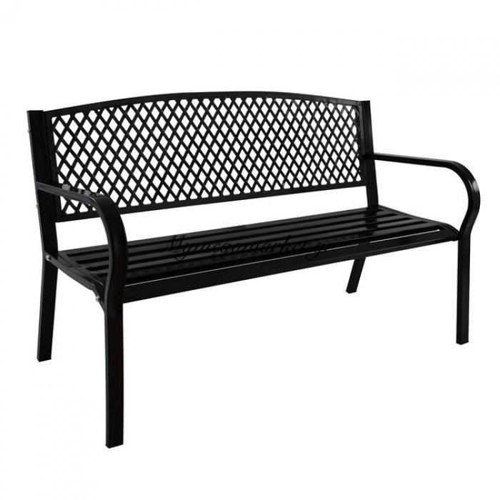 Παγκάκι Μεταλλικό Hm5033.01 124,5X52X77,5 Σε Μαύρο Χρώμα | Mymegamarket.gr