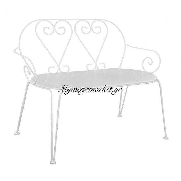 Παγκάκι Μεταλλικό Λευκό Hm5014.02 | Mymegamarket.gr