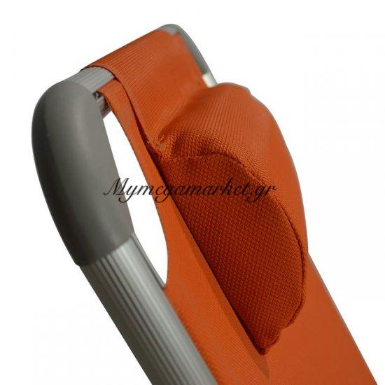 Ξαπλώστρα Παραλίας Hm5054.02 Βαρέως Τύπου Πορτοκαλί  Αλουμινίου Στην κατηγορία Ξαπλώστρες - Καρέκλες παραλίας | Mymegamarket.gr
