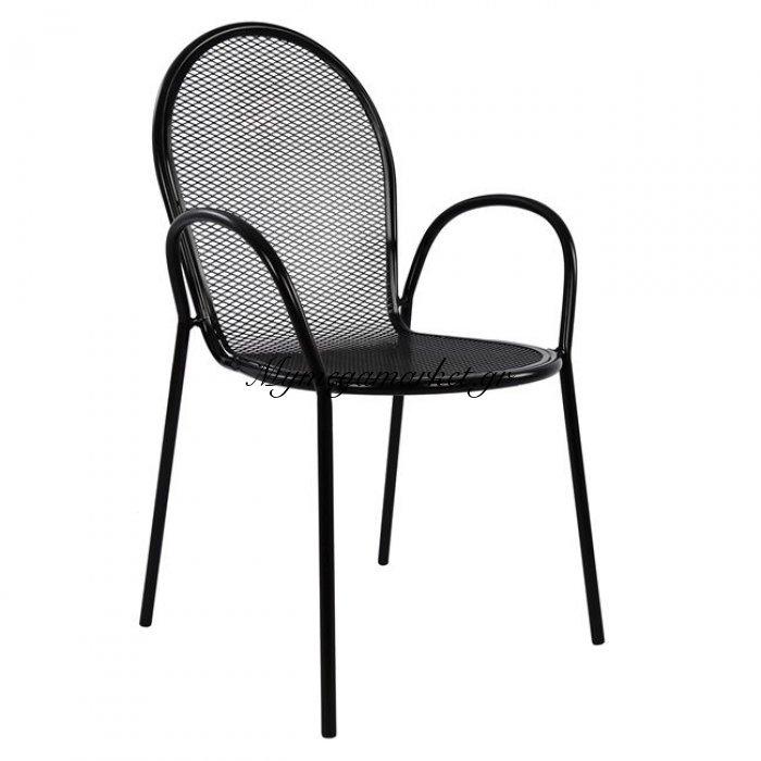 Πολυθρόνα Μεταλλική Hm5029.01 Vera Σε Μαύρο Χρώμα | Mymegamarket.gr