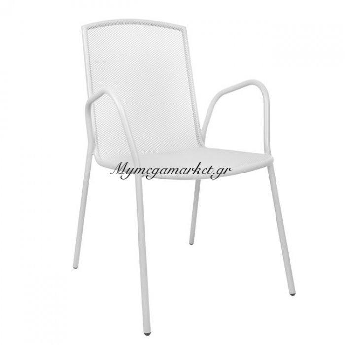 Καρέκλα Πολυθρόνα Μεταλλική Λευκή Hm5005.02   Mymegamarket.gr
