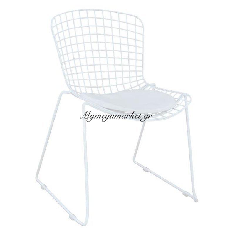 Καρέκλα Μεταλλική Λευκή Irene Hm8009.02