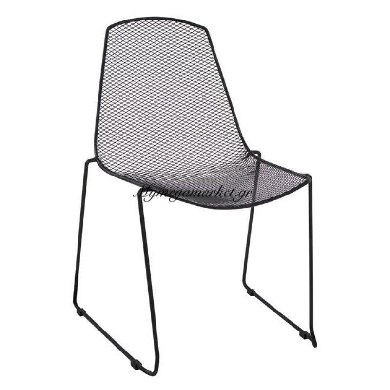 Καρέκλα Μεταλλική Μαύρη Urania Hm8011.01