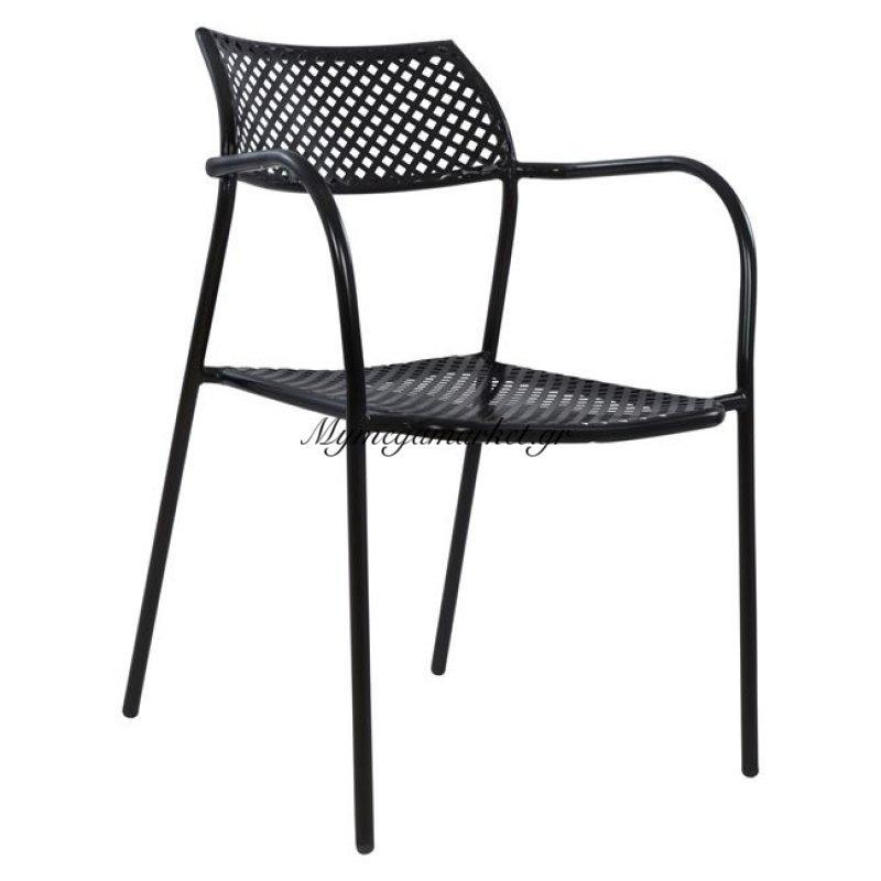 Καρέκλα Μεταλλική Μαύρη Thetis Hm5173.01
