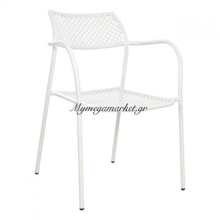 Καρέκλα Μεταλλική Λευκή Thetis Hm5173.02 | Mymegamarket.gr