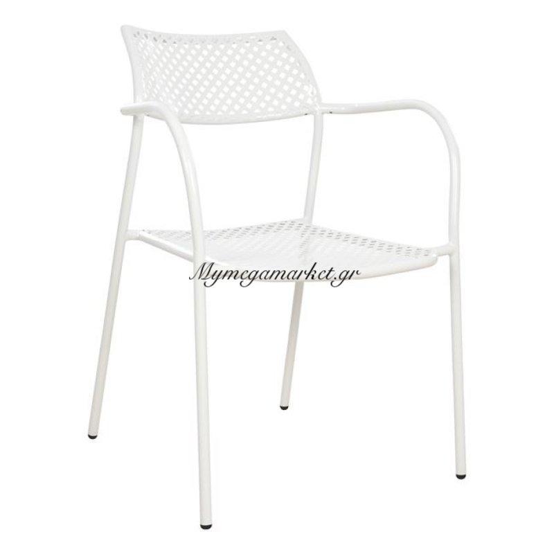 Καρέκλα Μεταλλική Λευκή Thetis Hm5173.02