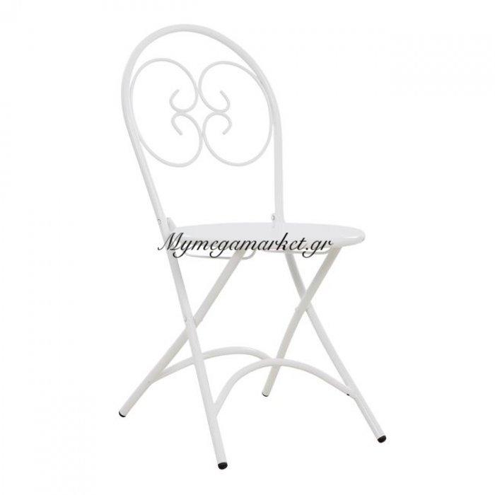 Καρέκλα Μεταλλική Λευκή Ismene Hm5174.02 | Mymegamarket.gr