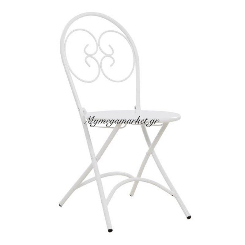 Καρέκλα Μεταλλική Λευκή Ismene Hm5174.02