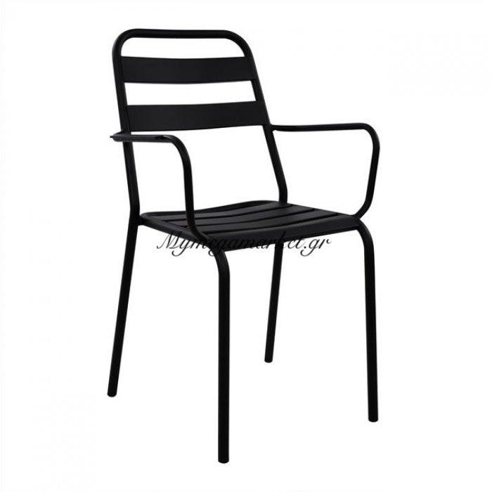 Καρέκλα Πολυθρόνα Μεταλλική Μαύρη Ματ Jason Hm5176.01 | Mymegamarket.gr