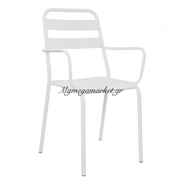 Καρέκλα Πολυθρόνα Μεταλλική Λευκή Ματ Jason Hm5176.02 | Mymegamarket.gr