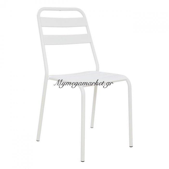 Καρέκλα Μεταλλική Λευκή Ματ Jason Hm5177.02 | Mymegamarket.gr