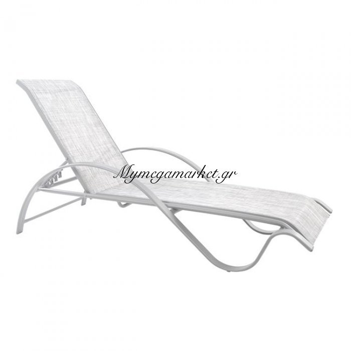 Ξαπλώστρα Αλουμινίου Λευκή Με Textline Λευκό Hm5133.02 | Mymegamarket.gr