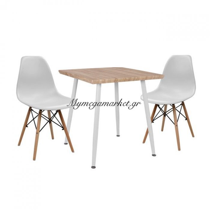 Σετ Τραπεζαρίας 3Τμχ Hm10351.02 Τραπέζι 70X70 & Καρέκλες Twist   Mymegamarket.gr