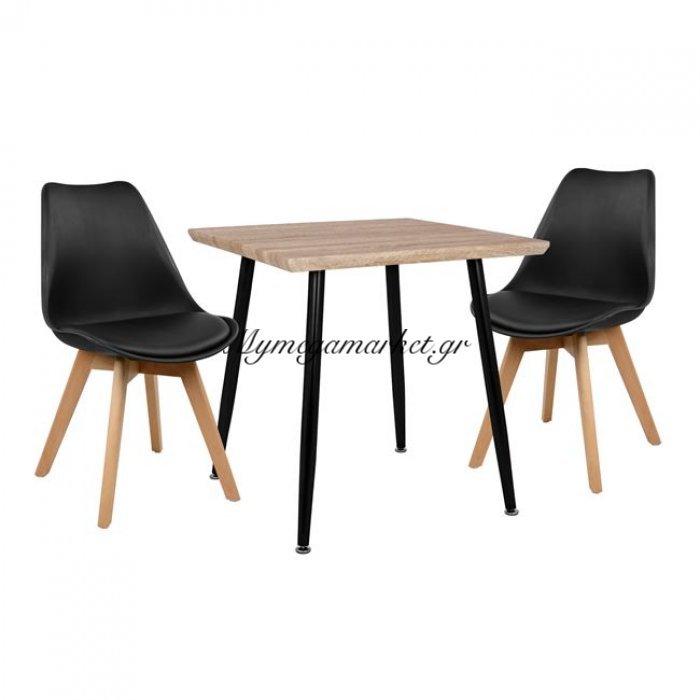 Σετ Τραπεζαρίας 3Τμχ Hm10352.01 Τραπέζι 70X70 & Καρέκλες Vegas   Mymegamarket.gr