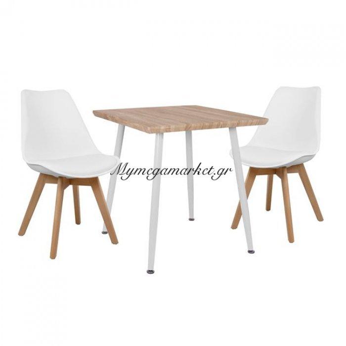 Σετ Τραπεζαρίας 3Τμχ Hm10352.02 Τραπέζι 70X70 & Καρέκλες Vegas   Mymegamarket.gr