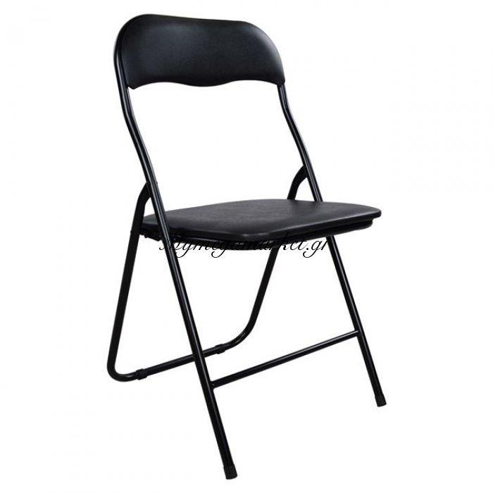Καρέκλα Πτυσσόμενη (Μιν 6Τμχ) Pu Μαύρη Hm0044.10 | Mymegamarket.gr
