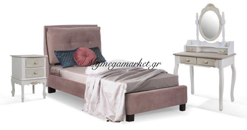 Παιδικό δωμάτιο 3τμχ κρεβάτι-κομοδίνο-κονσόλα με καθρέπτη Hm11060 | Mymegamarket.gr