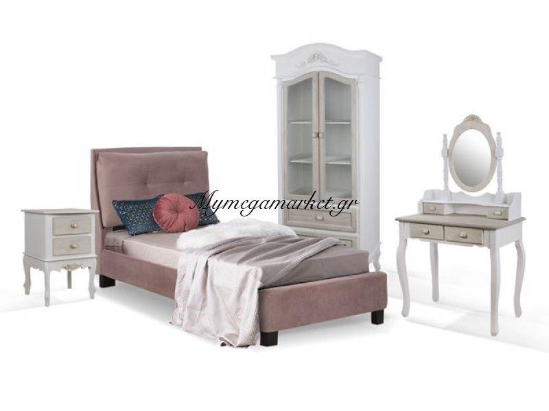 Παιδικό Δωμάτιο 4Τμχ Κρεβάτι-Κομοδίνο-Τουαλέτα Με Καθρέπτη-Ντουλάπα Hm11061 | Mymegamarket.gr