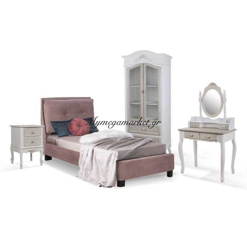 Παιδικό Δωμάτιο 4Τμχ Κρεβάτι-Κομοδίνο-Τουαλέτα Με Καθρέπτη-Ντουλάπα Hm11061 Στην κατηγορία Σετ Φοιτητικά έπιπλα | Mymegamarket.gr