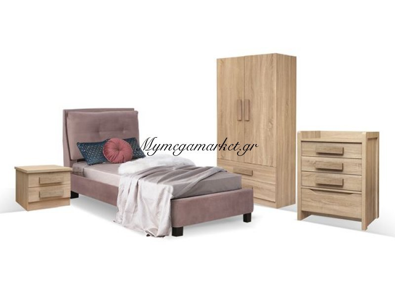 Παιδικό Δωμάτιο 4Τμχ Κρεβάτι-Κομοδίνο-Συρταριέρα-Ντουλάπα Hm11066 | Mymegamarket.gr