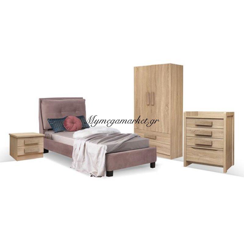 Παιδικό Δωμάτιο 4Τμχ Κρεβάτι-Κομοδίνο-Συρταριέρα-Ντουλάπα Hm11066 Στην κατηγορία Σετ Φοιτητικά έπιπλα | Mymegamarket.gr
