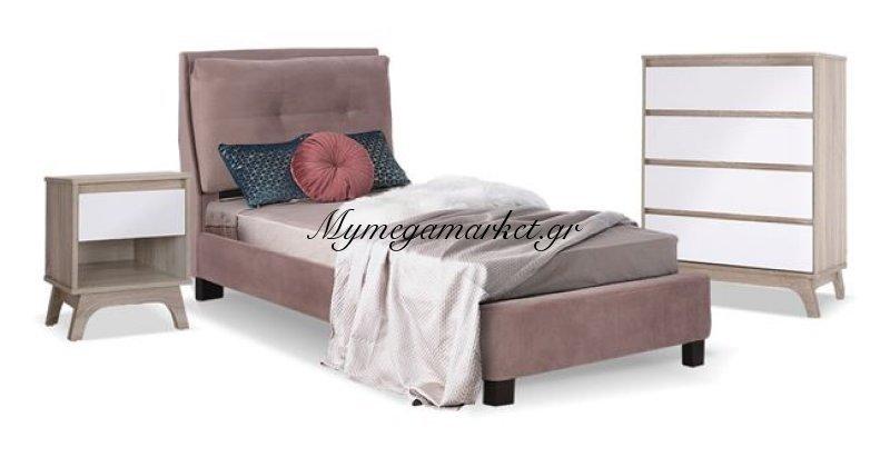 Παιδικό Δωμάτιο 3Τμχ Κρεβάτι-Κομοδίνο-Συρταριέρα Hm11069 | Mymegamarket.gr