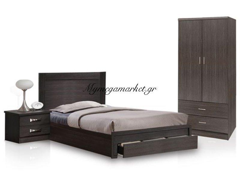 Σετ Φοιτητικό 3τμχ Κρεβάτι-Κομοδίνο-Ντουλάπα 2Φυλλη Hm11118.01 | Mymegamarket.gr