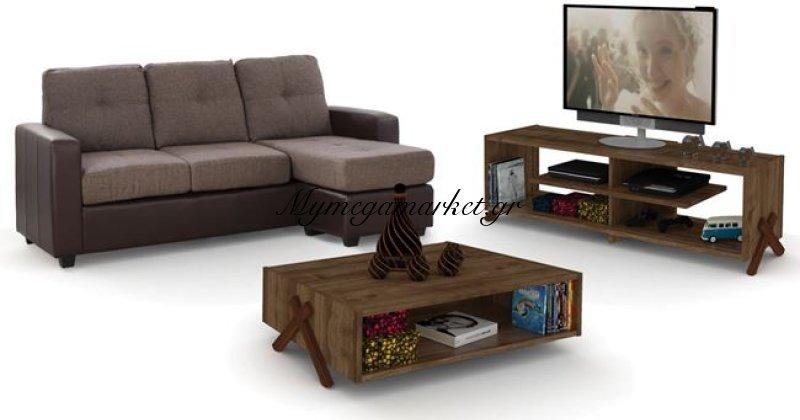 Σετ Φοιτητικό 3Τμχ Καναπές + Έπιπλο Tv + Τραπέζι Σαλονιού Hm11136 | Mymegamarket.gr