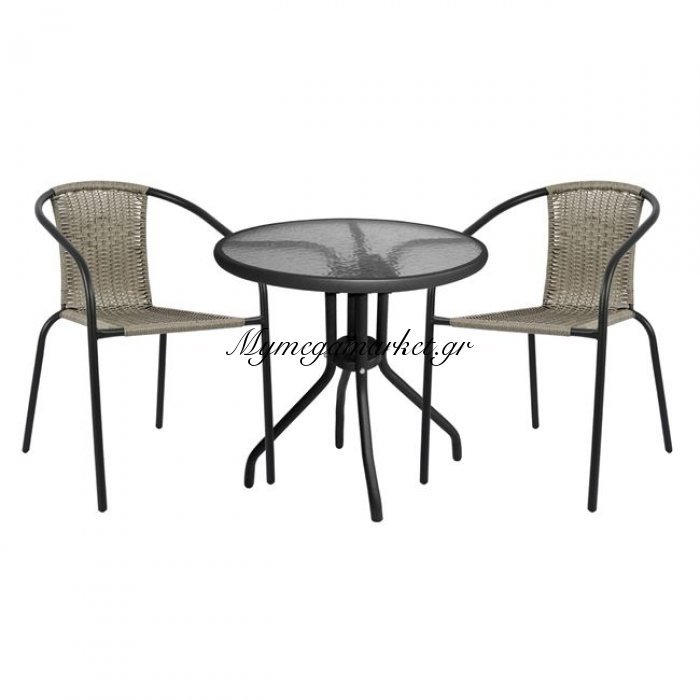 Σετ Τραπεζαρία 3Τμχ Καρέκλες Και Τραπέζι Hm5178.01 | Mymegamarket.gr