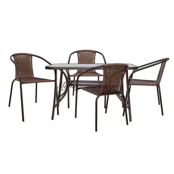 Σετ Τραπεζαρία 5Τμχ Καρέκλες  Και Τραπέζι Hm5192.02 | Mymegamarket.gr