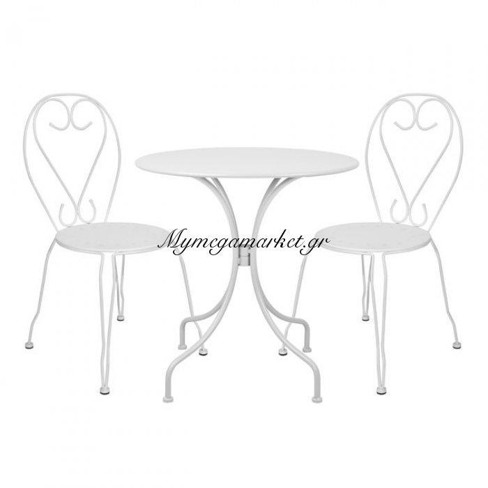 Σετ Τραπεζαρία 3Τμχ - Τραπέζι & Καρέκλες Amore Λεύκες Hm5188.02 | Mymegamarket.gr