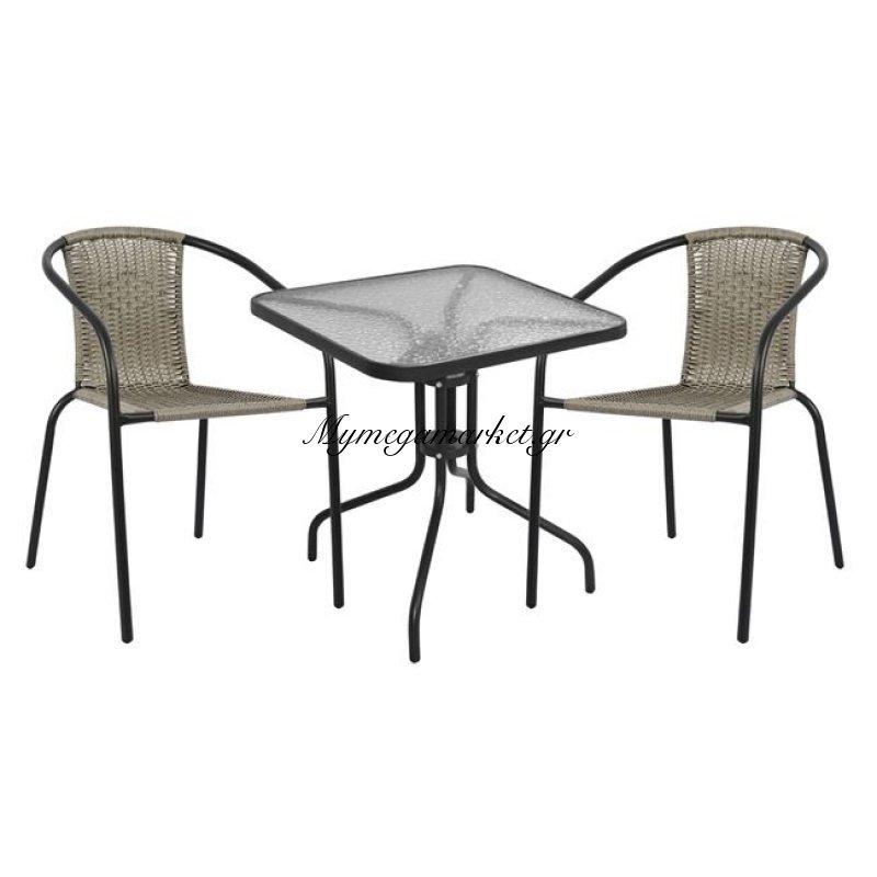 0b7ce915bc Σετ Τραπεζαρίας 3Τμχ Με 2 Καρέκλες   Τραπέζι Hm5179.01