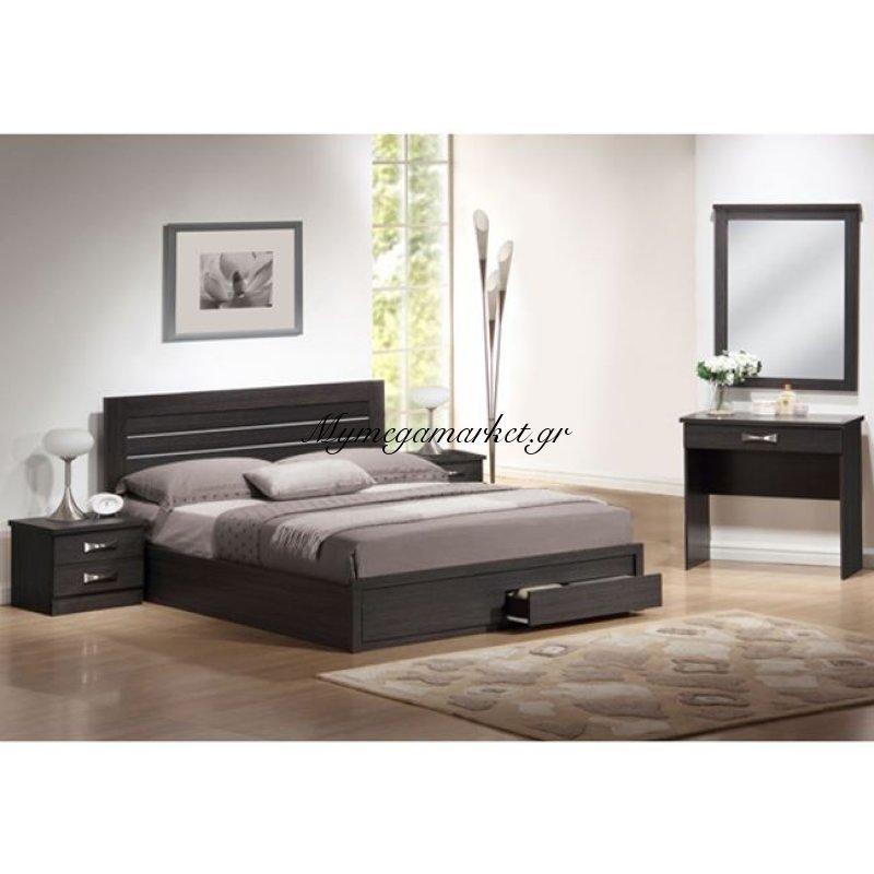 Σέτ Κρεβατοκάμαρας 5 τμχ. Relax Zebrano Hm11106 Στην κατηγορία Κρεβάτια ξύλινα - Μεταλλικά | Mymegamarket.gr